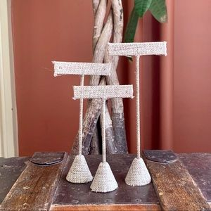 Jewelry - Burlap T- Stands for Earrings - Set of 3